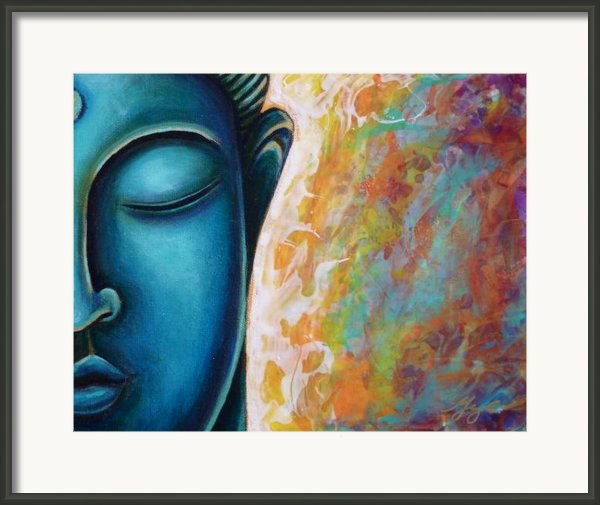 Blue Buddha Framed Print By Gayle Utter
