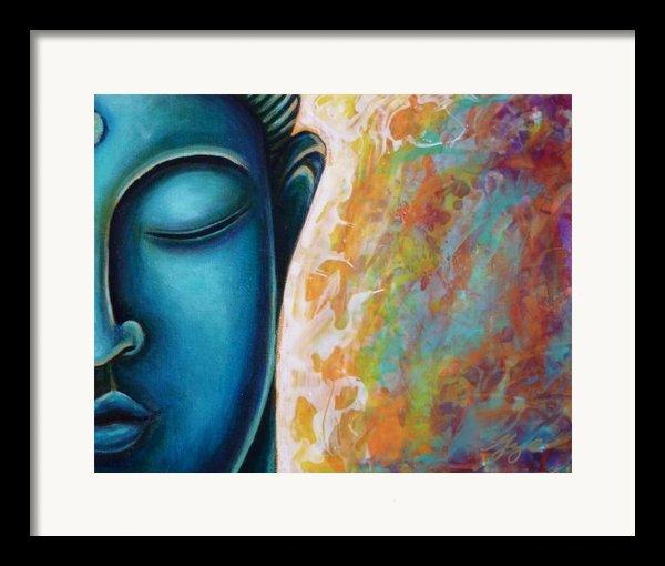 Blue Buddha Framed Print By Gayle Utter