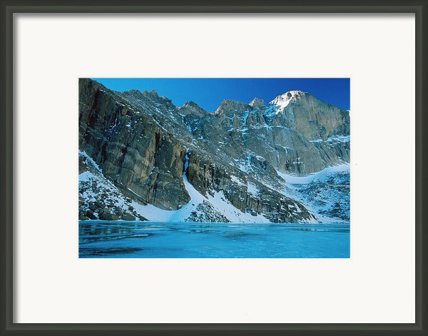 Blue Chasm Framed Print By Eric Glaser