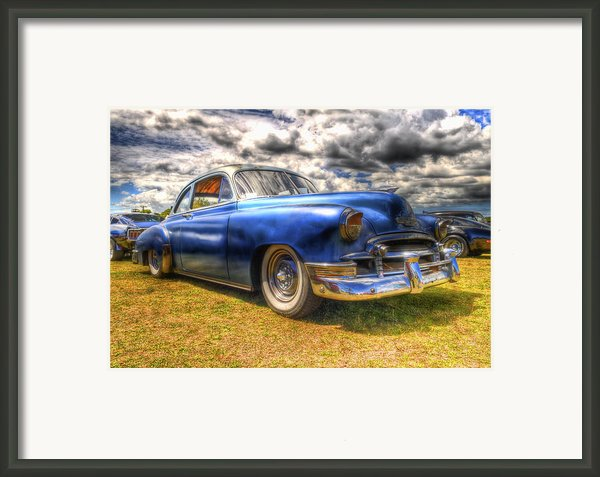 Blue Chevy Deluxe - Hdr Framed Print By Phil