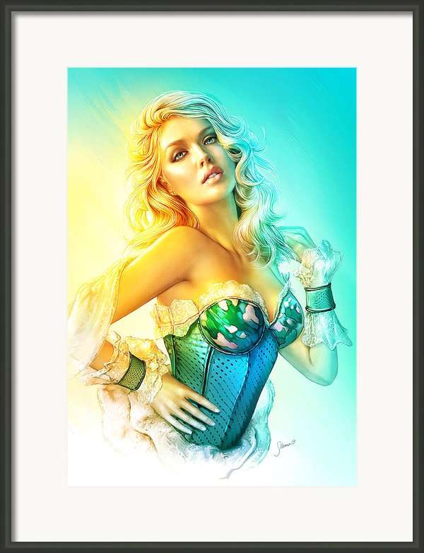 Blue Corset Framed Print By Shannon Maer