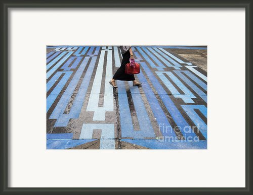 Blue Crosswalk Framed Print By Setsiri Silapasuwanchai