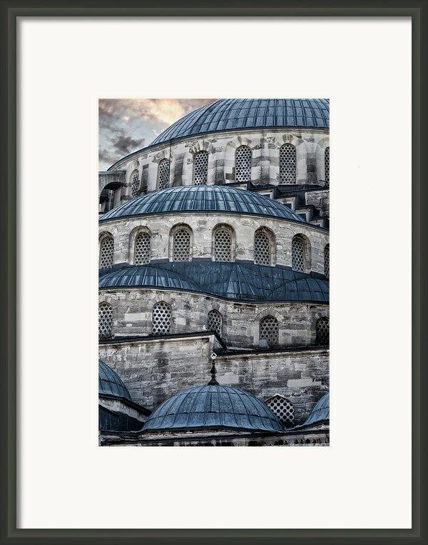 Blue Dawn Blue Mosque Framed Print By Joan Carroll