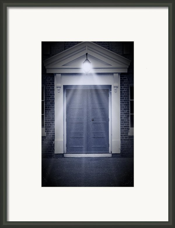 Blue Door Framed Print By Svetlana Sewell