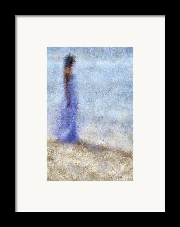Blue Dream. Impressionism Framed Print By Jenny Rainbow