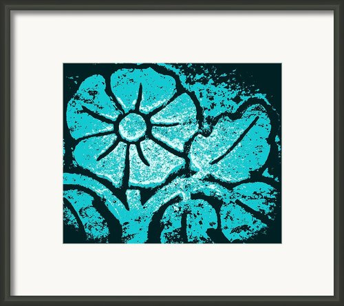 Blue Flower Framed Print By Chris Berry