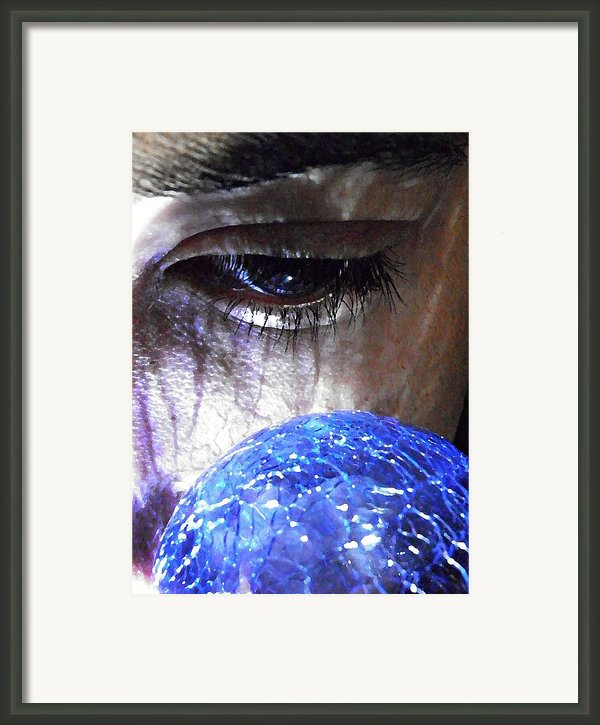 Blue Glass World Framed Print By Sarah Loft