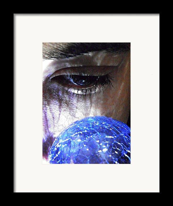 Blue Glass World Framed Print By Sarah Loft
