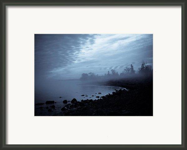 Blue Hour Mist Framed Print By Mary Amerman