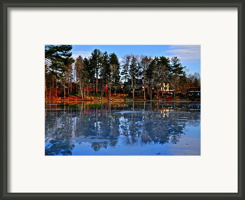 Blue Ice Framed Print By Robert Harmon