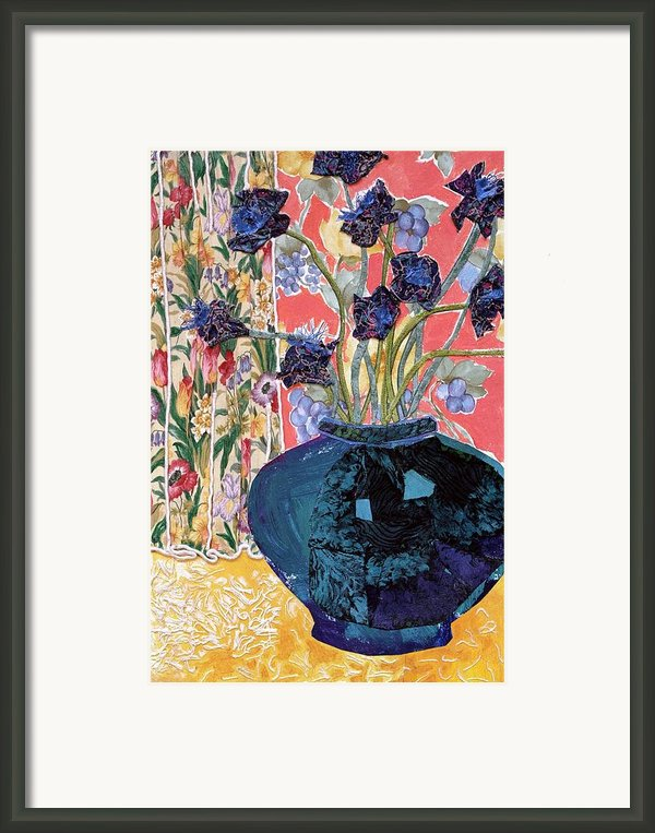 Blue In Blue Framed Print By Diane Fine