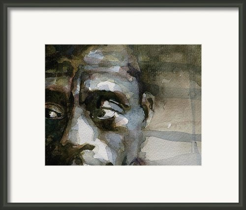 Blue In Green  Miles Davis Framed Print By Paul Lovering