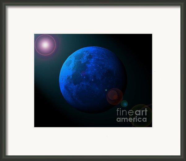 Blue Moon Digital Art Framed Print By Al Powell Photography Usa