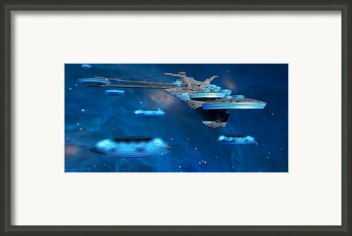 Blue Nebula Expanse Framed Print By Corey Ford