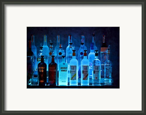 Blue Night Shadows Framed Print By Evelina Kremsdorf