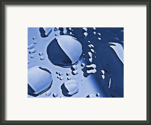 Blue Rain  Framed Print By Chris Berry