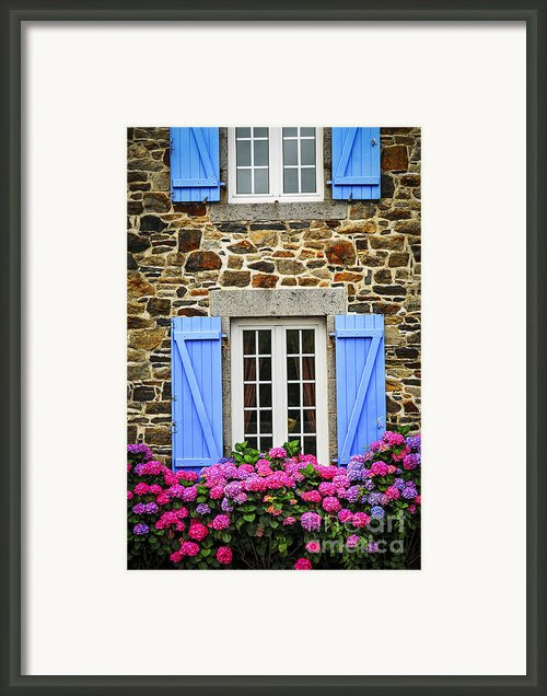Blue Shutters Framed Print By Elena Elisseeva