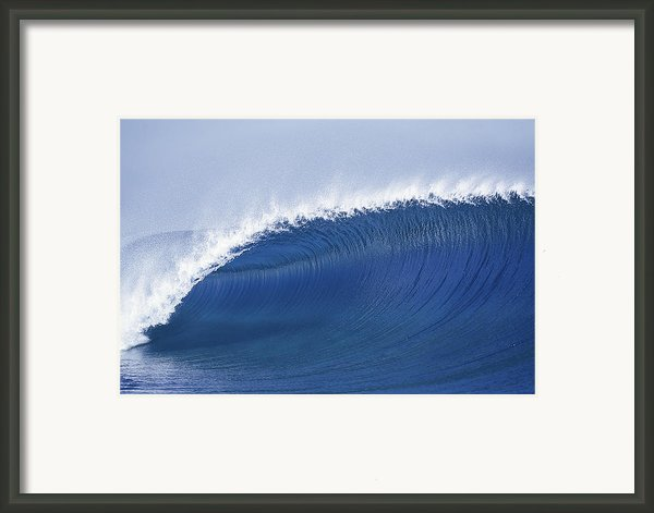 Blue Spinner Framed Print By Sean Davey
