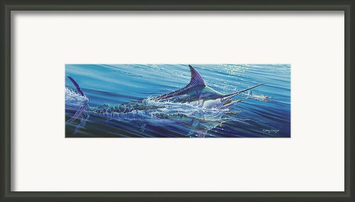 Blue Tranquility Off0051 Framed Print By Carey Chen