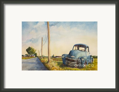 Blue Truck North Fork Framed Print By Susan Herbst