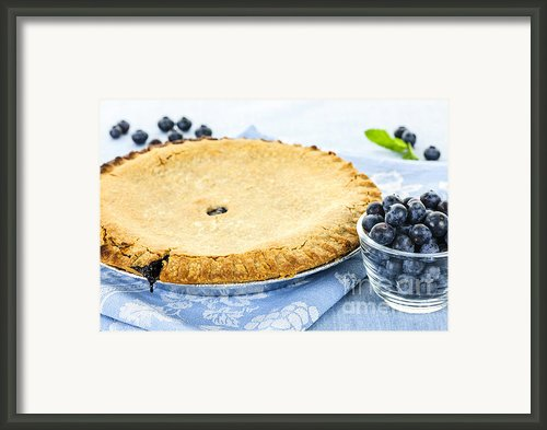 Blueberry Pie Framed Print By Elena Elisseeva
