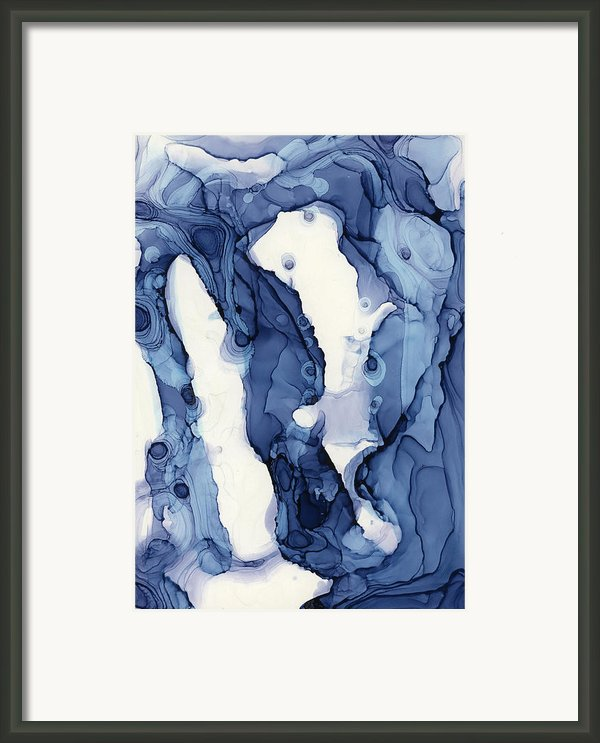 Blueline No. 1 Framed Print By Andrea Pramuk
