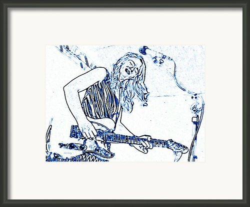 Blues In Blue Framed Print By Chris Berry