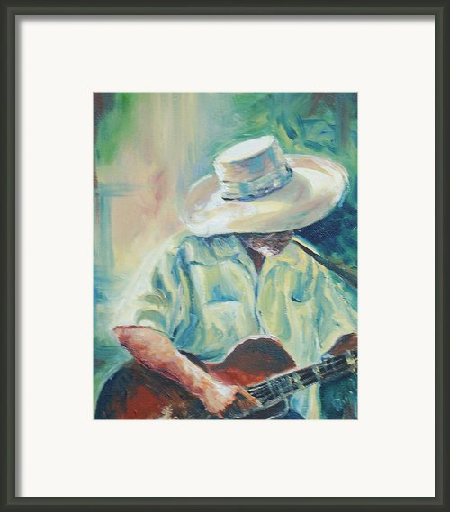Blues Man Framed Print By Sharon Sorrels