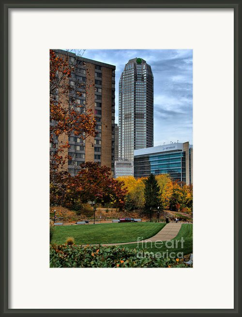 Bny Mellon From Duquesne University Campus Hdr Framed Print By Amy Cicconi