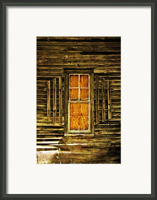 Boarded Window Framed Print By Marty Koch
