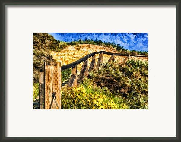 Boardwalk Steps Framed Print By Anthony Citro