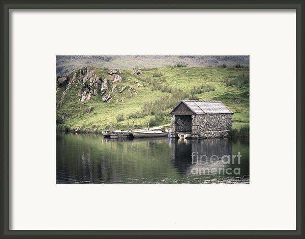 Boathouse Framed Print By Jane Rix