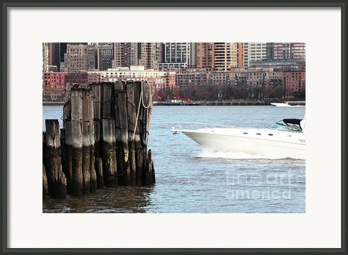 Boating In The Harbor Framed Print By John Rizzuto