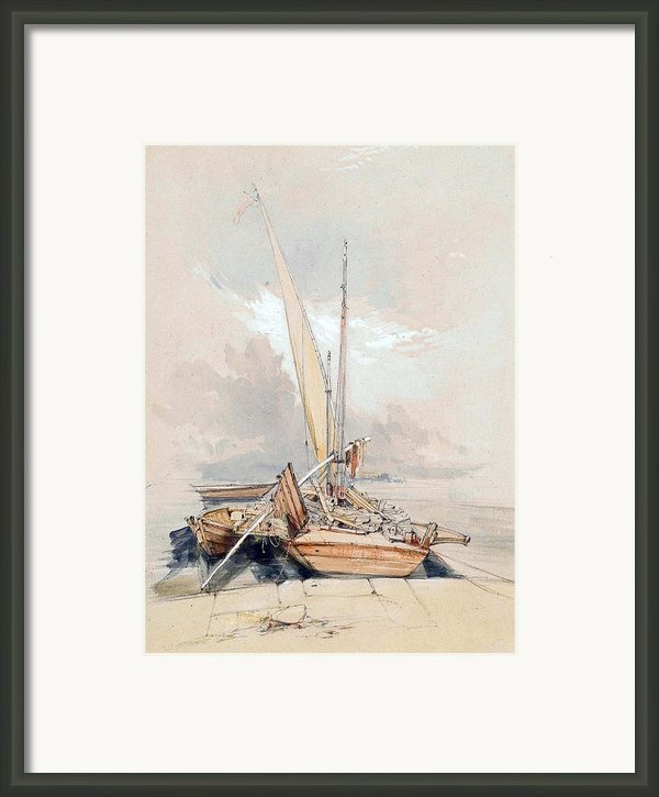 Boats At Quayside Lake Geneva Framed Print By James Holland
