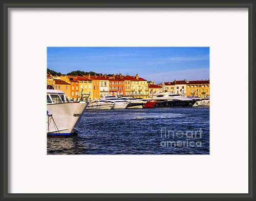 Boats At St.tropez Harbor Framed Print By Elena Elisseeva