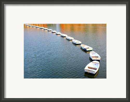 Boats Dance Framed Print By Julia Apostolova