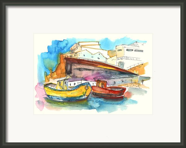 Boats In Ericeira In Portugal Framed Print By Miki De Goodaboom