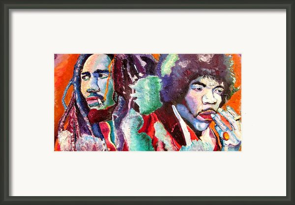 Bob And Jimi Framed Print By Michael Owens