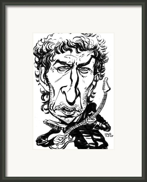 Bob Dylan Framed Print By John Ashton Golden