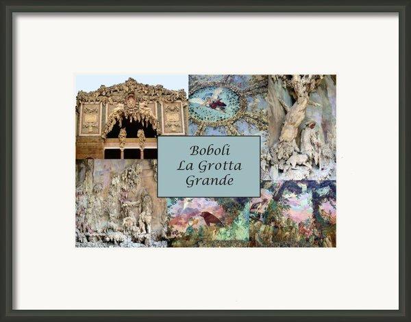 Boboli La Grotta Grande 1 Framed Print By Ellen Henneke