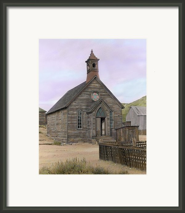 Bodie Church Framed Print By Mel Felix