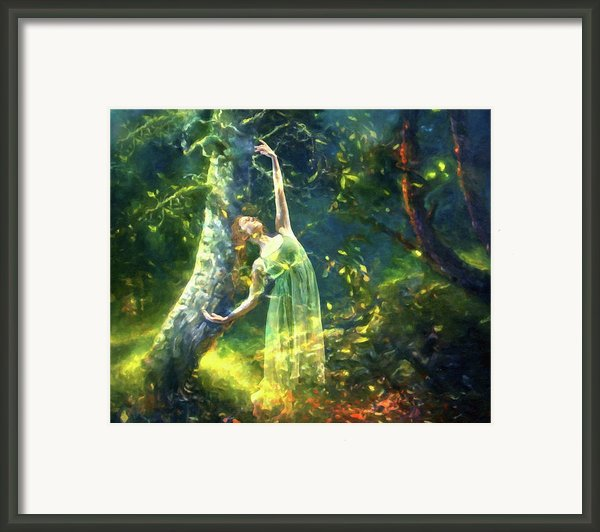 Bohemian Dancer Fantasy Framed Print By Zeana Romanovna