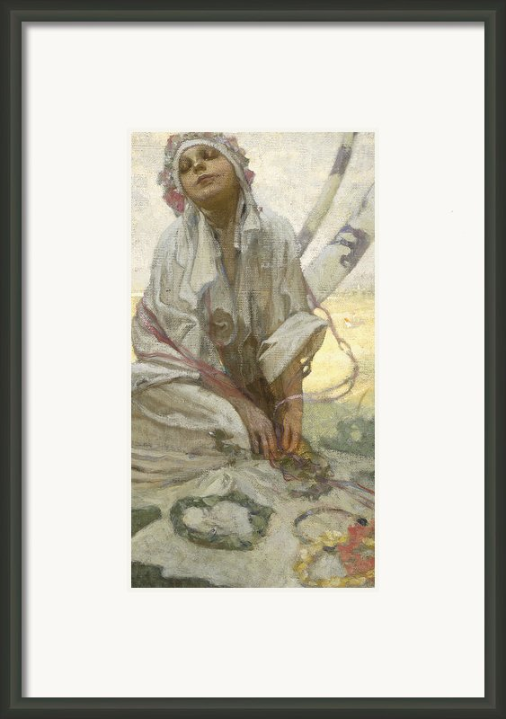 Bohemian Sun Dreamer Framed Print By Alphonse Marie Mucha