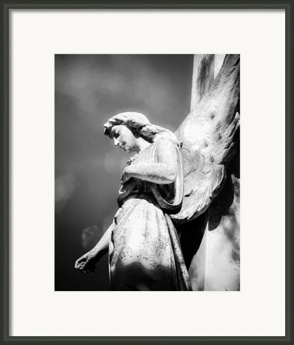 Bokeh Angel In Infrared Framed Print By Sonja Quintero