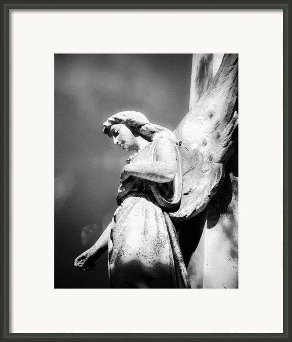 Bokeh Angel In Infrared Framed Print By Sonja Quintero