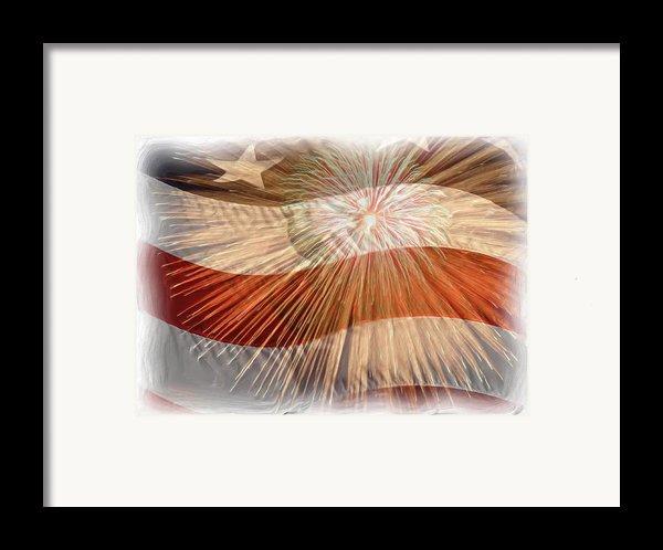 Bombs Bursting In Air Framed Print By Heidi Smith