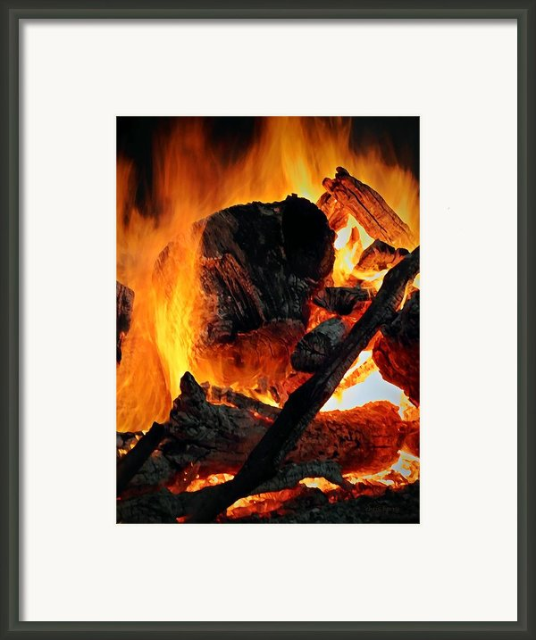 Bonfire  Framed Print By Chris Berry