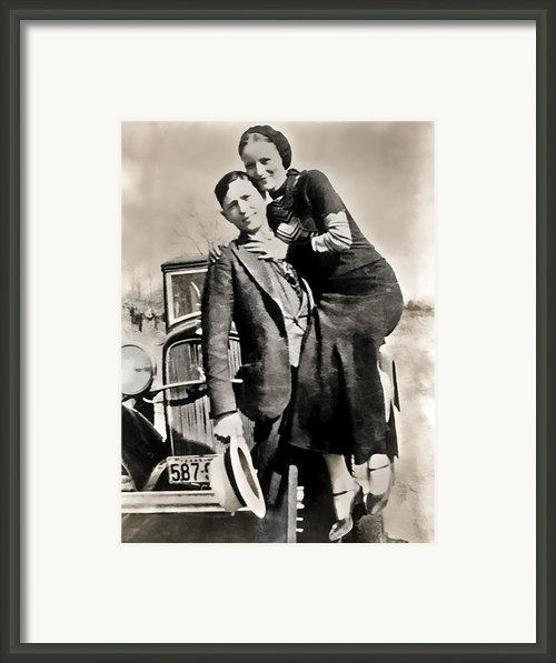 Bonnie And Clyde - Texas Framed Print By Daniel Hagerman