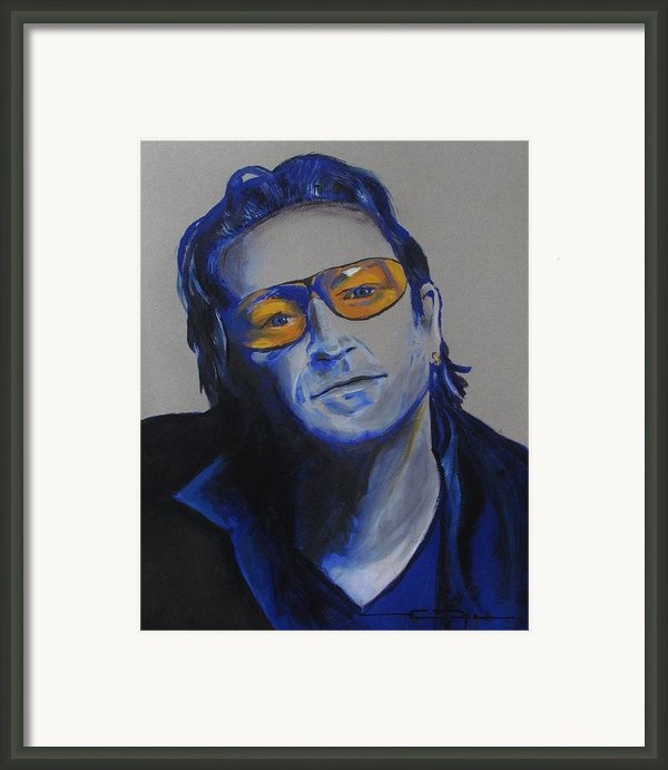 Bono U2 Framed Print By Eric Dee