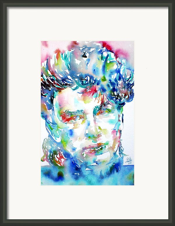 Bono Watercolor Portrait.1 Framed Print By Fabrizio Cassetta